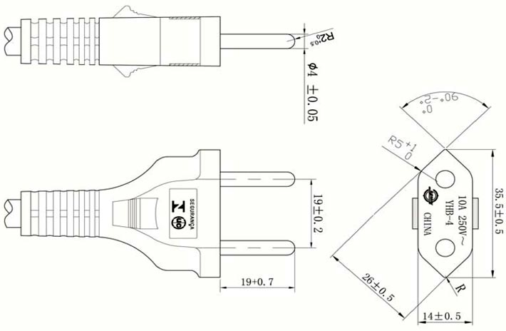 2-Prong-plug-zil-Power-Cord-YHB-4-Drawing Wire A Three Prong Plug on polarized adapter plug, 4 pong adapter plug, 3d wall plug, hot tub gfci plug, italy adapter plug, 110-volt plug, brazilian indians zoe lip plug, 3 to 2 adapter plug, grounding converter plug, of the prongs plug, dryer plug, spotlight with 3 prongs plug, cat dust plug, three wire plug, 20 amp 220 volt plug, lincoln welder plug, lamp cord with plug, 6-20p plug, 3d man plug,