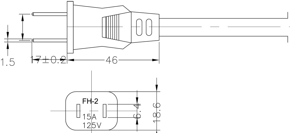 FH-2 Japan 7A Plug Drawing