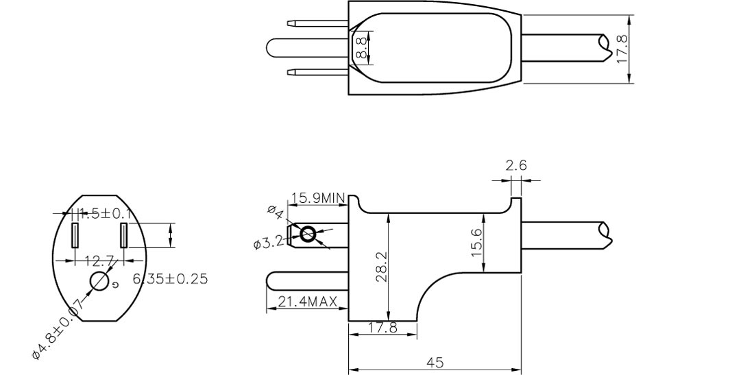 15a 125v power cord wiring diagrams