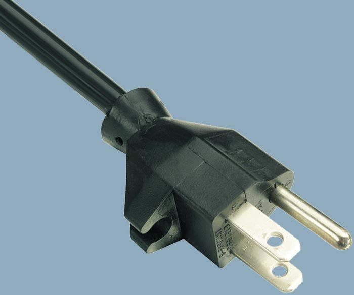 15A 125V NEMA 5-15P Power Cord with Clip