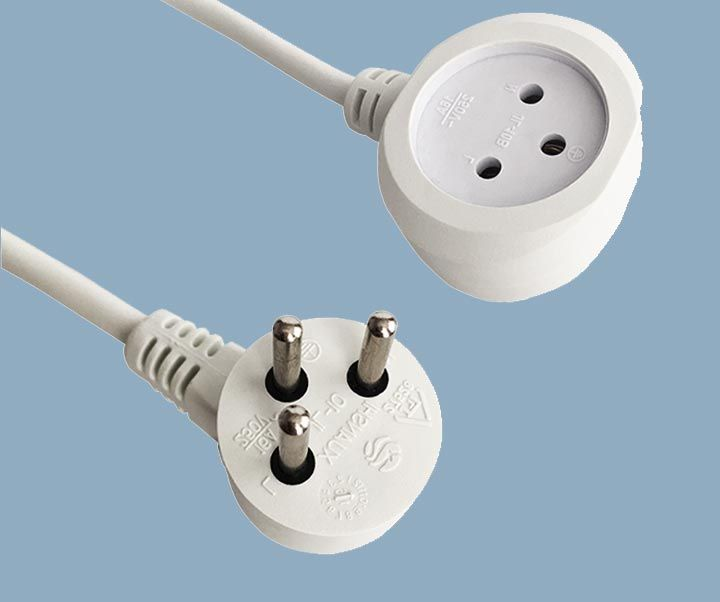 16A 250V SI32 Plug Single Outlet Socket Extension Cord