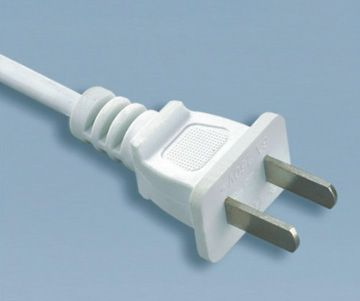 2 Prong Plug China Power Cord
