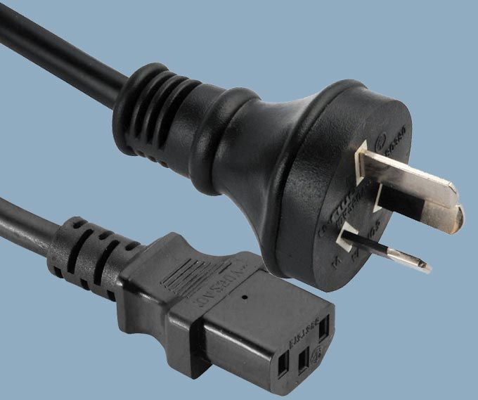 Australia AS/NZ 3112 SAA Plug IEC 60320 C13 Mains Power Cord