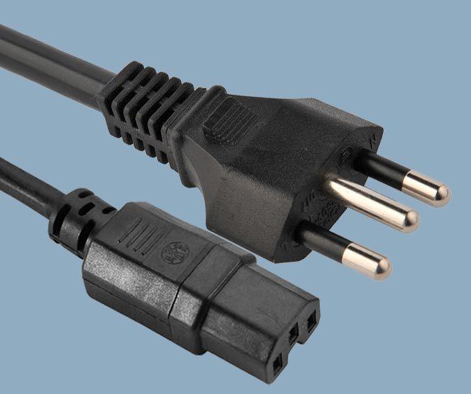Brazil plug to IEC C15 power cord,Brazil power cord,Brazilian power cords,Brazil power plugs,Brazil plugs,Brazil electrical plug,Brazil plug,UC power cord,Brazil InMetro power cord