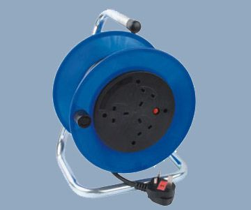 British Electrical Cord Reel 25M 3 Socket Outlet