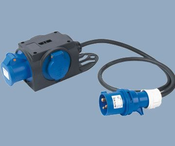 Extension Cord Adapter 16A 250V Industrial Plug to Socket