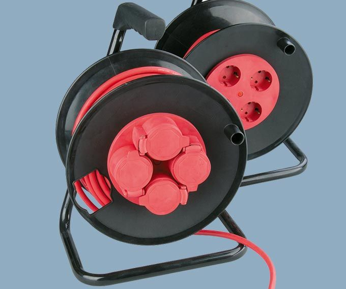 Extension Cable Reels (IP20)IP44 With Caps German Sockets