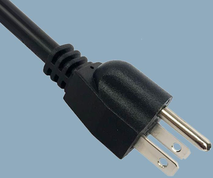 15A 125V NEMA5-15 Straight Plug Power Cord