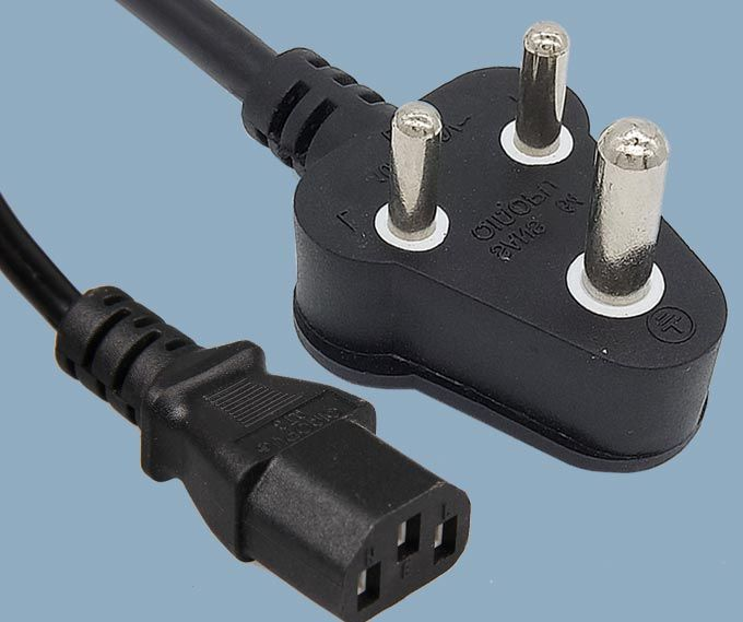 South African SABS SANS-164  Plug To IEC 60320 C13 Power Cord