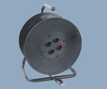 Swiss Extension Wire Reel 4 Socket Outlet Max 50M