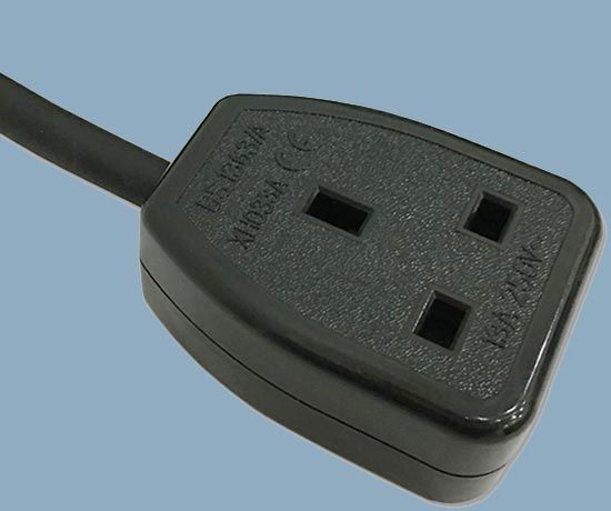 UK BS 1363 Mains Socket Power Cord