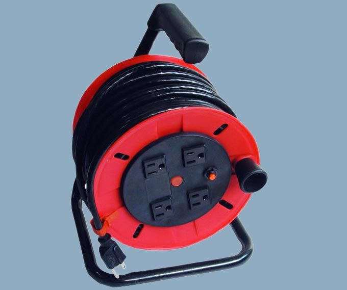 Cable Reel With Indicator Light