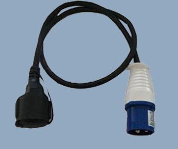 Extension Cord Adapter 16A 250V Industrial Plug to German Socket