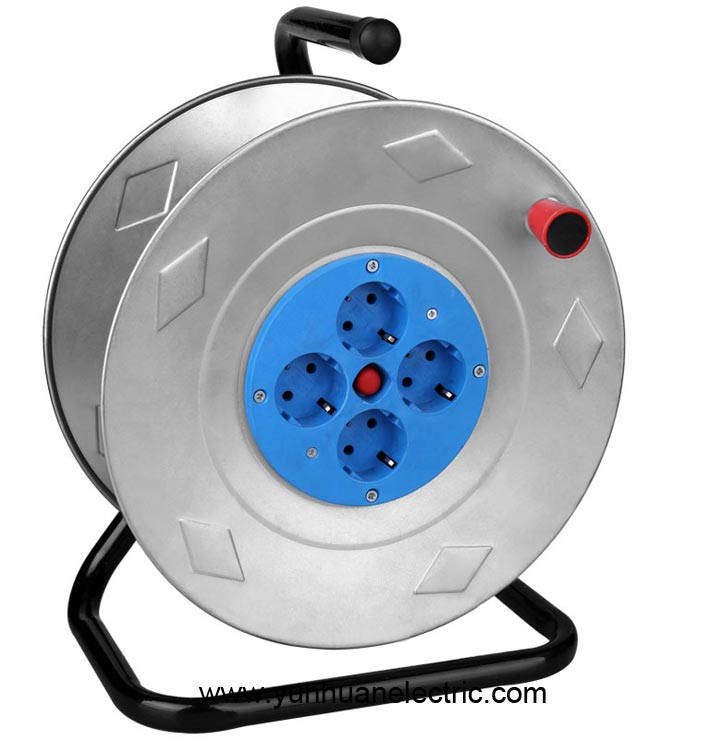 Cable Reel Europe Type German Socket 4 Outlet