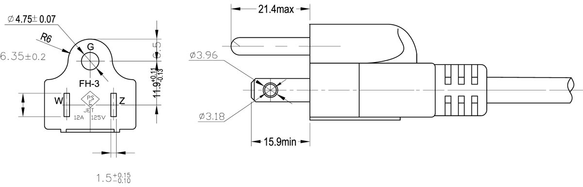 Wiring diagram for prong plug powerking