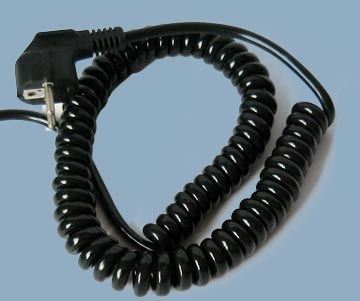 Spiral Coiled Power Cable
