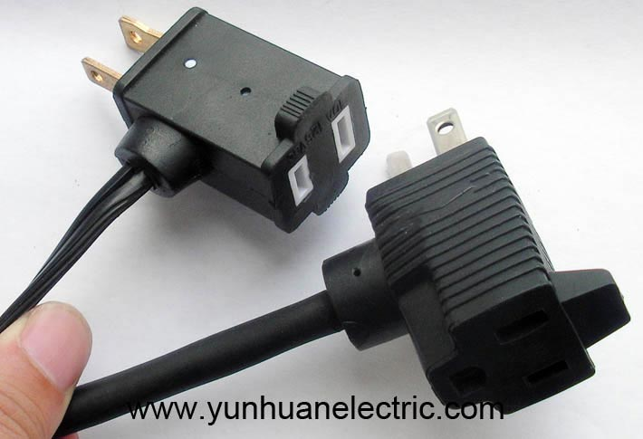 15A 125V NEMA 515 Pigtail Plug Socket Power Cord