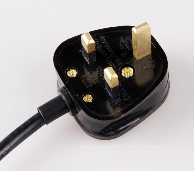 Uk Power Cord Plug Flexible Cable Standard