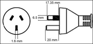 Australia 10A power cord plug