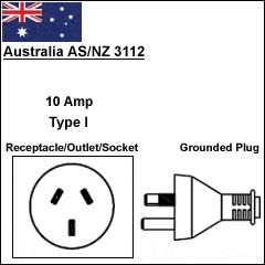 Australia As/Nz3112 power cord plug