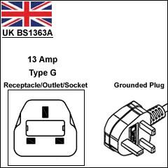 British BS 1363 13Amp power plug