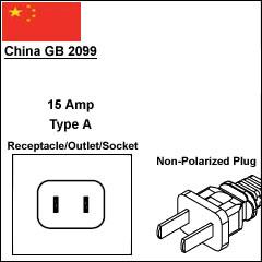 China GB2099 CCC power plug