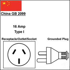China GB2099 CCC 16Amp power plug