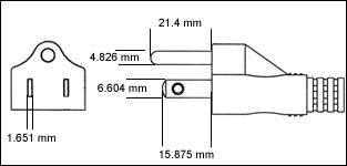 Japanese JIS 8303 - 15 Amp plug