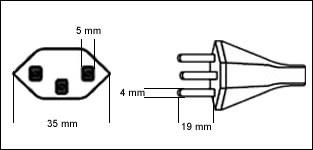 Swiss SEV 1011 16 Amp power cord