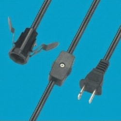 Gear switch power cord, dimmer switch, E14 lamp holder power cord