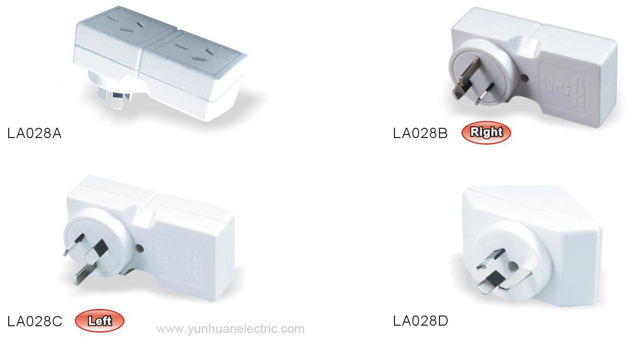 Australia Power Cordplugflexible Cable Standard Wiring 4 Outlet Plug La028a La028b La028c La028d General Purpose Socket Adaptor