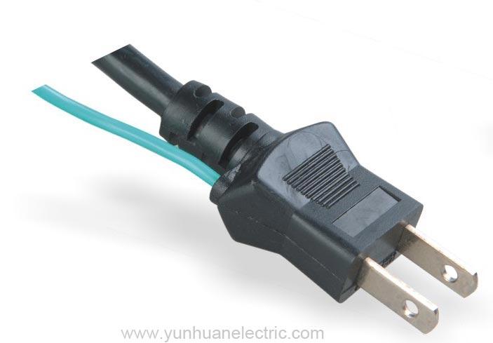 LA033C 2 Pin Plug With Cord