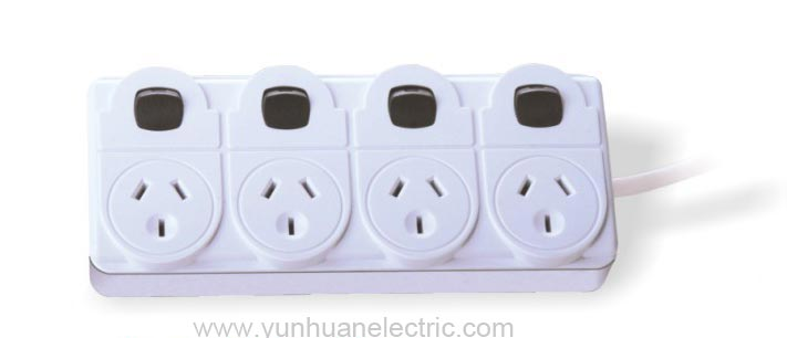 LPA04K 4 Outlet devices with switch Portable Outlet