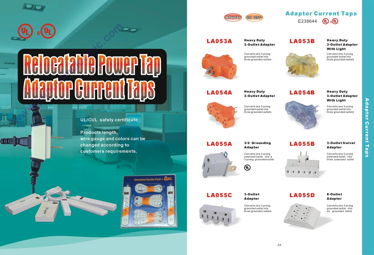 America Power Cable Extension Cord Outlet Socket Catalogue