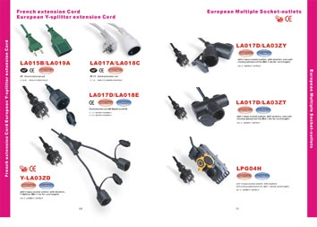 European Multiple Socket Extension Cord