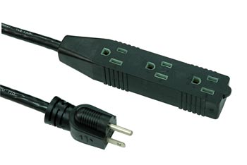 Indoor Extension Cord 3 Outlet LA004H LA052D