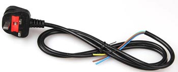 Power Supply Cord Non-Rewireable Plug UK