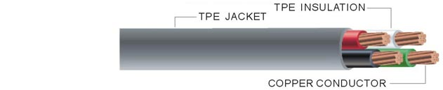 SRDE TPE Flexible Round Cable