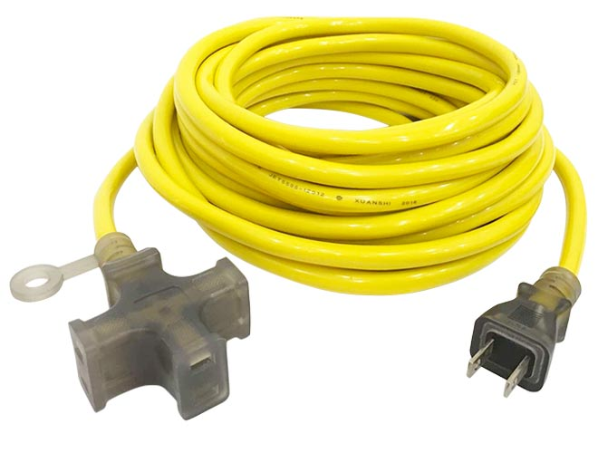 15A 125V 3 Outlet Extension Cord Yello JL-7/JL-7B