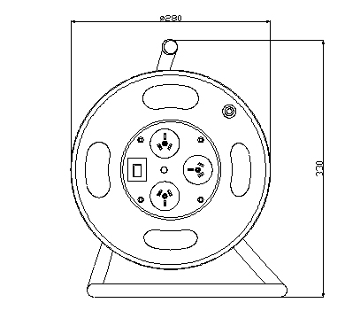 Australian SAA approved extension cord reel drawings
