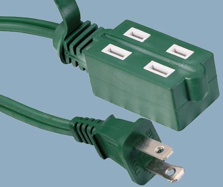 1-15 13A 125V Cube Tap 2 Conductor Indoor Extension Cord