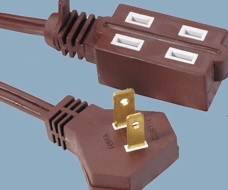 1-15 13A 125V Indoor Angle Plug Cube Tap 2 Conductor Extension Cord