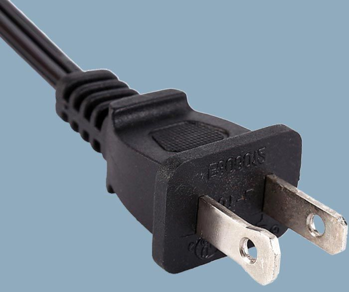 1-15P 15A 125V Two Prong Power Cord