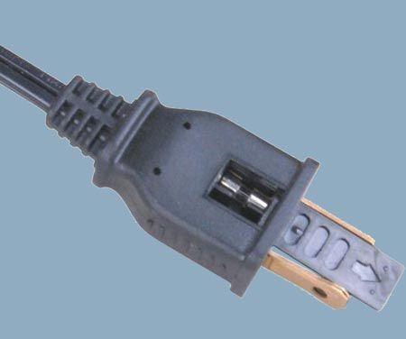 5A Fuse 125V 1-15 Plug Power Cord