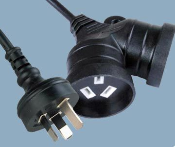 Australian Two Outlets 10A 250V Mains Extension Cord Set