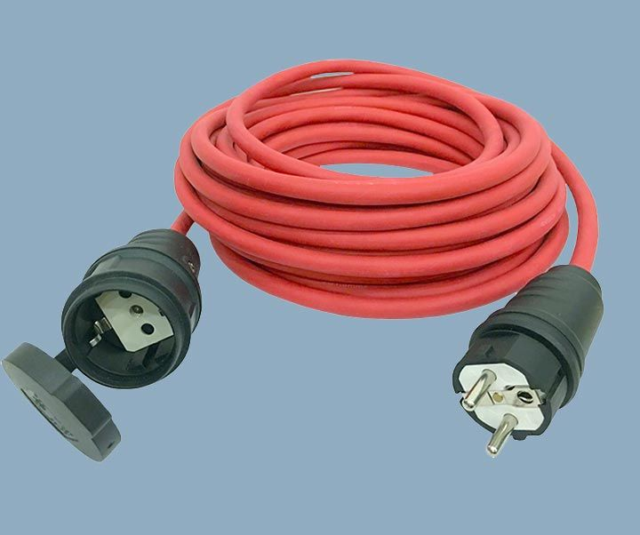 Extension Cord German Type CEE7/17 IP44 Plug and Socket