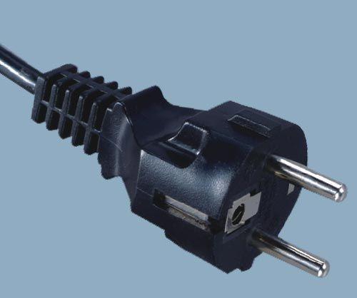 European CEE 7/7 Schuko Staight Type Plug Power Cord