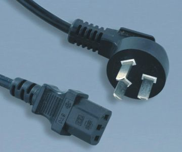 China Plug to IEC C13 Computer Power Cable