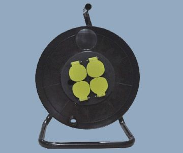 Cord Reel French Type 4 Outlet Soscket IP44 With Caps Max 60M