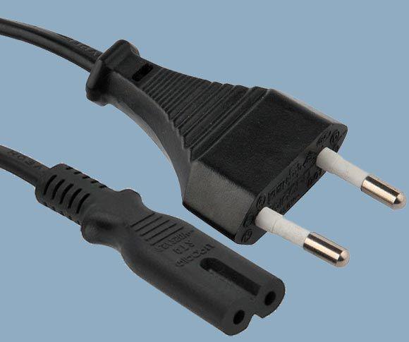Europe CEE 7/16 Europlug To IEC 60320 C7 Electric Power Lead